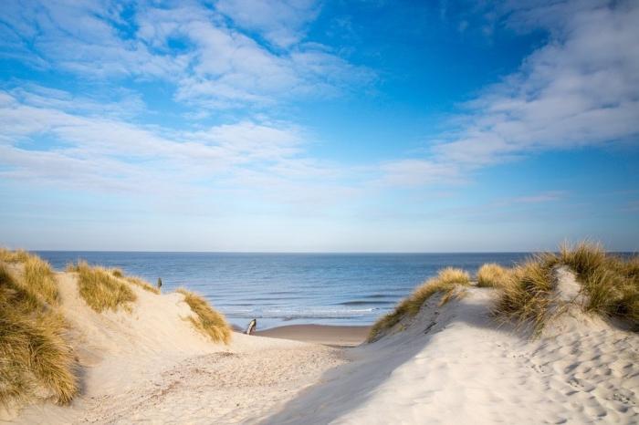 dänischer nordseestrand, henne stand, große dünnen, urlaub am meer, dänemark