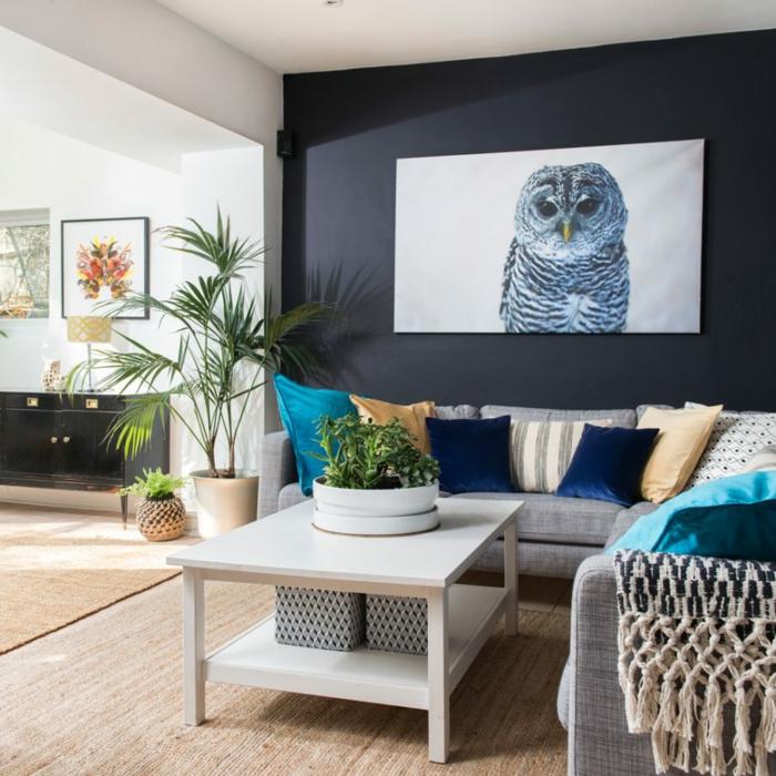 Home Design Ideas Living Room: 1001 + Ideen Für Wandgestaltung Für Wohnzimmer