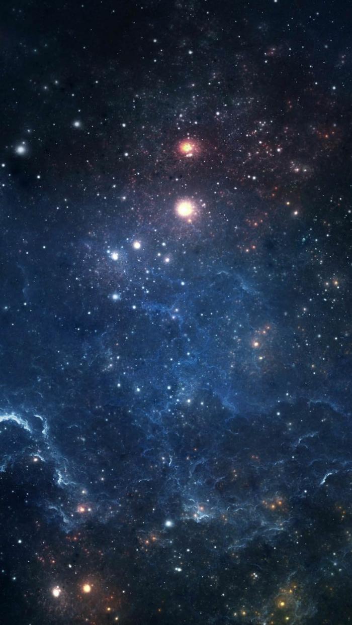 ein Bild von Weltraum, Milchstraße mit hellen Sternen, schöne Handy Hintergrundbilder auf schwarzem Hintergrund