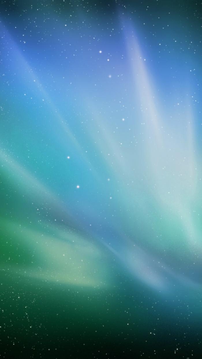 Weltraum, Nordlicht, Sternhimmel, eine Mischung aus Blau und Grün, schöne Handy Hintergrundbilder