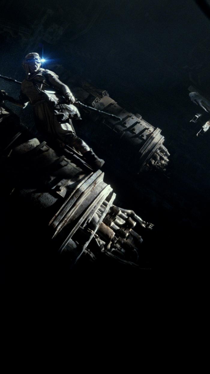 schwarzer Hintergrund, ein Bild aus dem Star Wars, ein Jedi mit Schwert, coole Hintergrundbilder