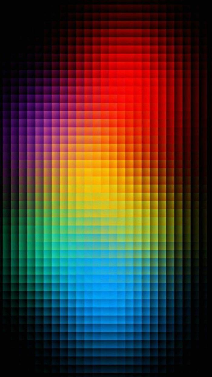 eine optische Täuschung zur Bewegung in knalligen Farben, schwarzer Hintergrund, coole Hintergrundbilder