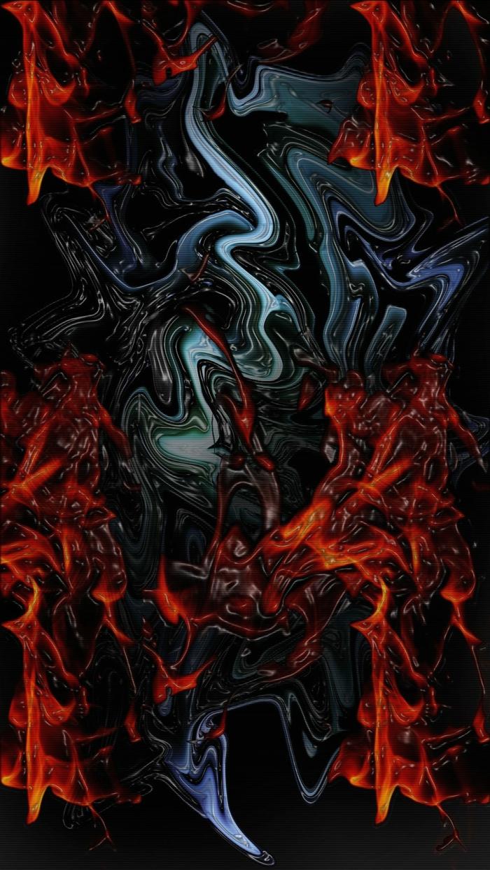 bunte Flecken in roter und blauer Farbe, coole Hintergrundbilder mit abstraktem Muster, so schön