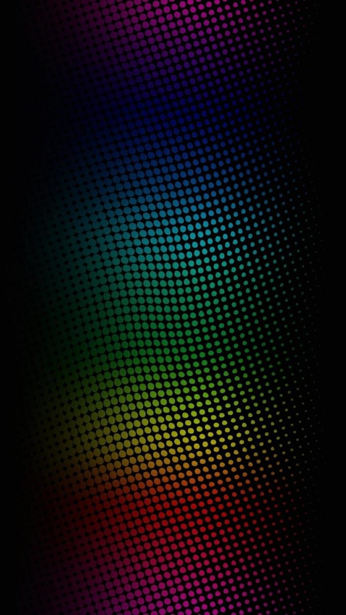 buntes Farbmuster in gerundeter Form, schwarzer Hintergrund, coole Hintergrundbilder mit Illusion für Bewegung