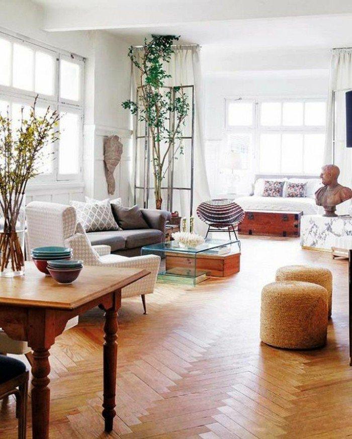 kleine wohnung in altbaugebäude schön renovieren und modern gestalten vintage living, retro style, holzoptik