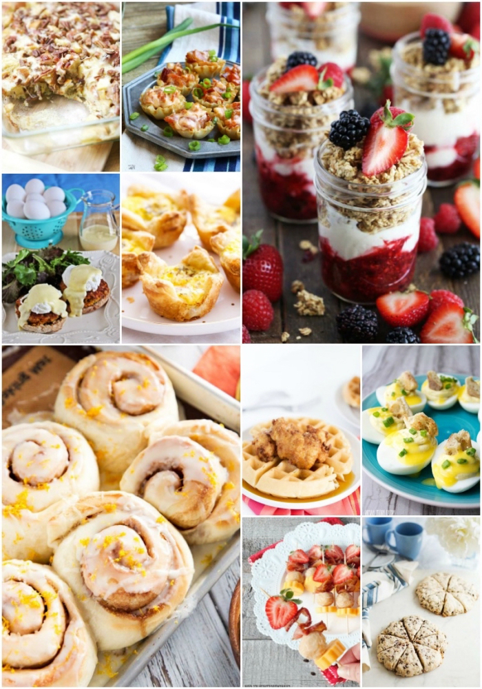 schnelle und einfache rezepte, müsli, sahne und marmelade in einmachglas frühstück essen, waffeln