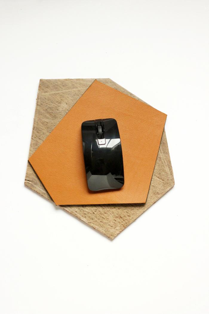 geschenk für freund zum selber machen, geometriasches mousepad basteln, tutorial