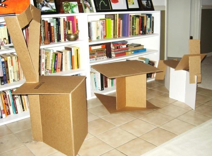 pappmöbel anleitung zum selber bauen und konstruieren, alte kartons wiederverwenden und möbel daraus machen