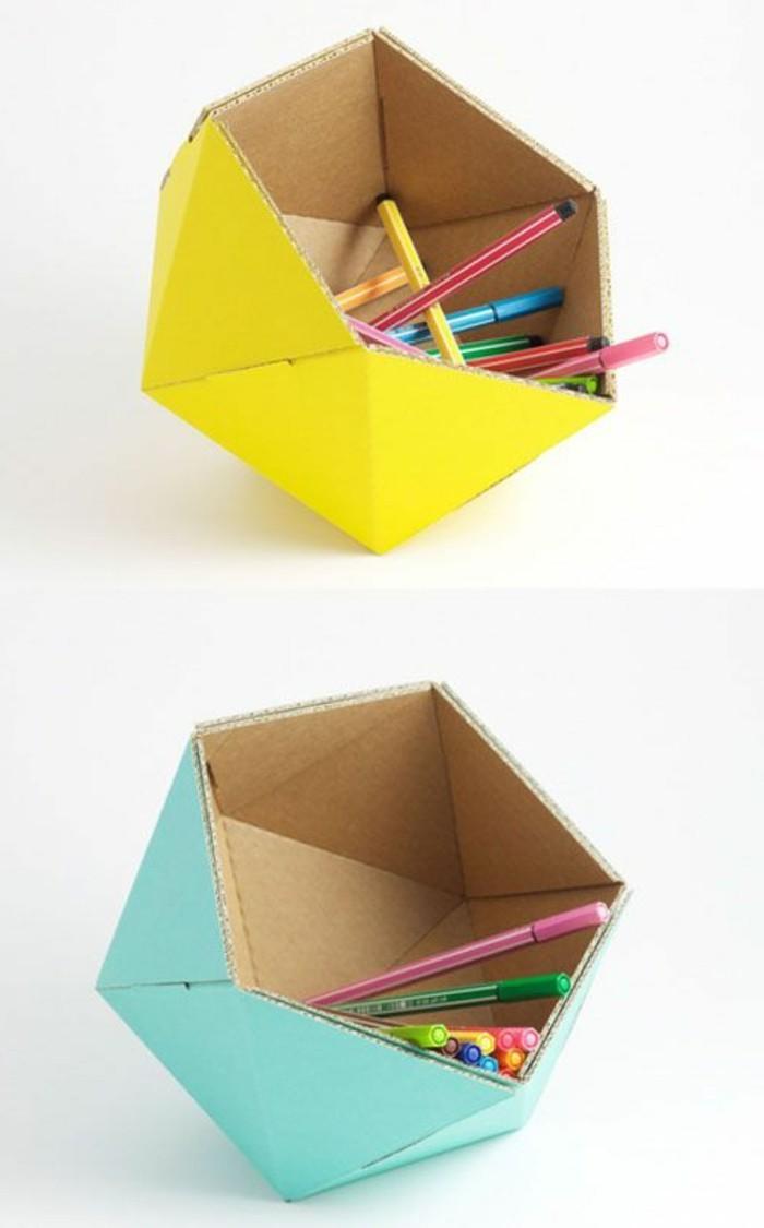 pappmöbel berlin, kreatives design von deko für den schreibtisch aus karton oder papier gemacht, bunte designs