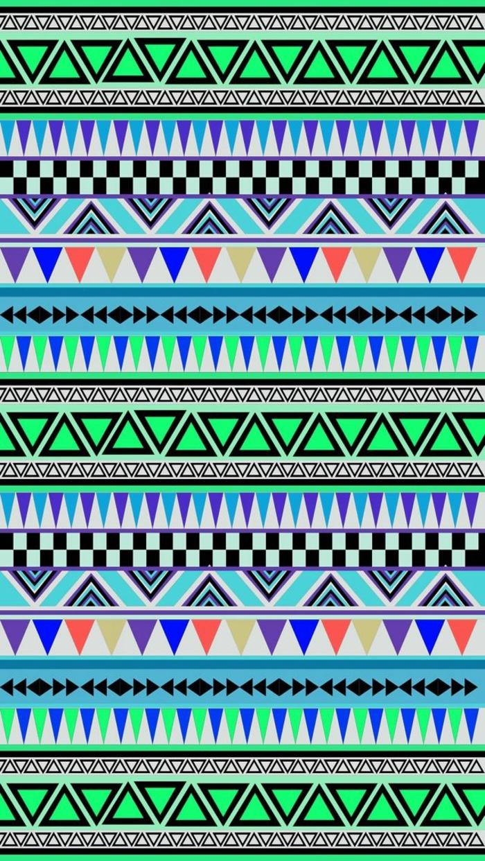 iphone backgrounds, mit bunten farben grün blau weiß geometrische formen am hintergrund