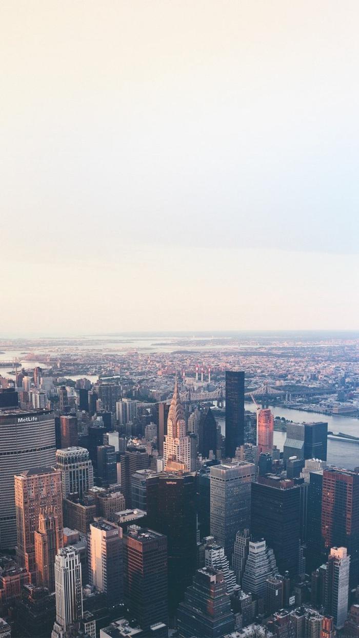 hintergrundbilder iphone, new york von oben gesehen stadtbild idee, dron foto, wolkenkratzer fotografie
