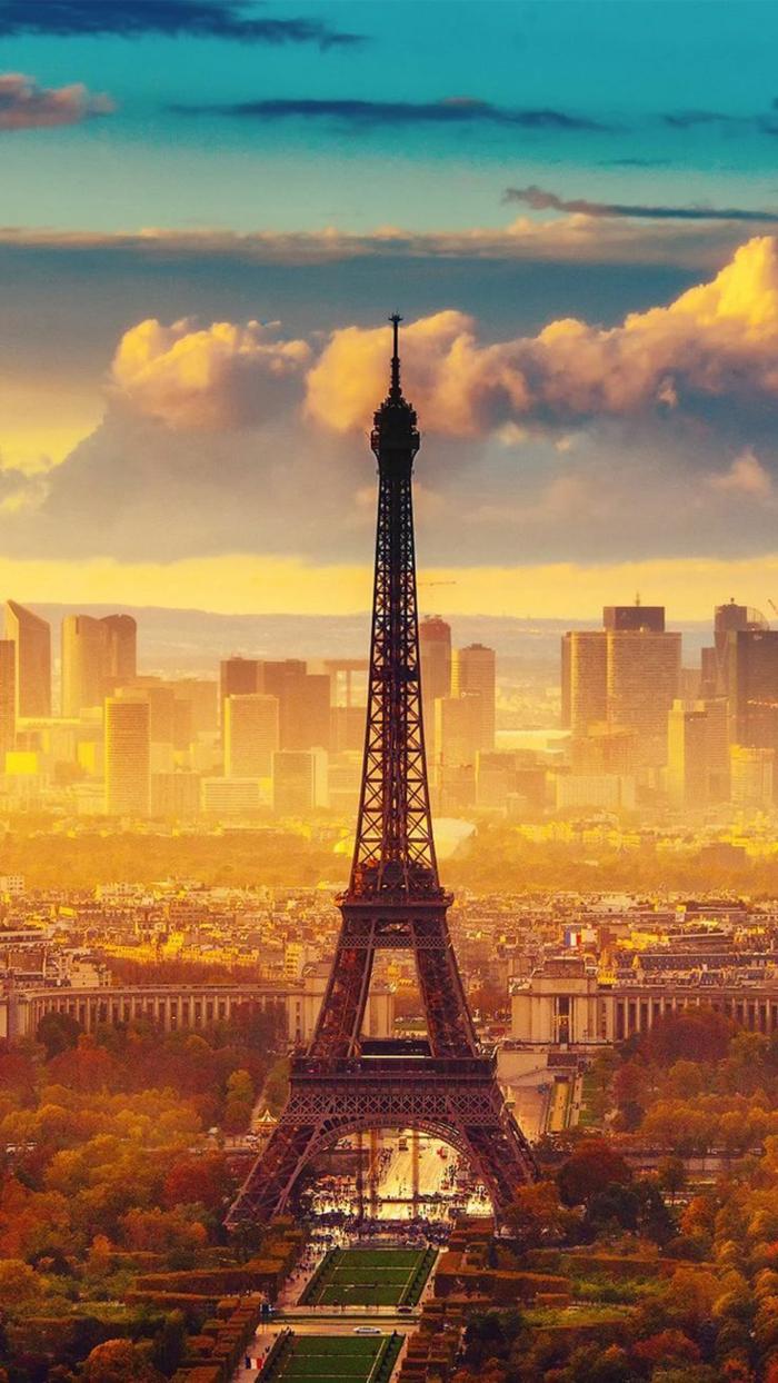 frankreich sehenswürdigkeiten, paris hintergrundbilder iphone, der eifelturm beim sonnenuntergang