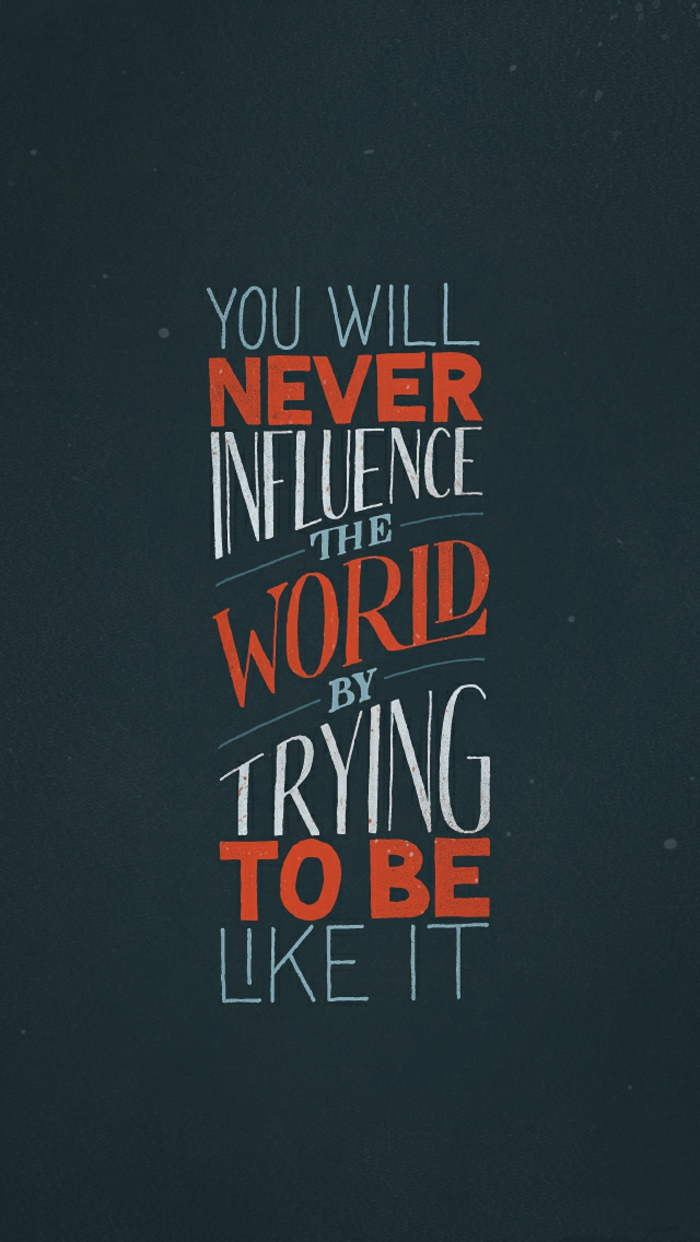 coole hintergründe mit dunkeln farben und einen text darauf, sei verschieden um influencer zu werden
