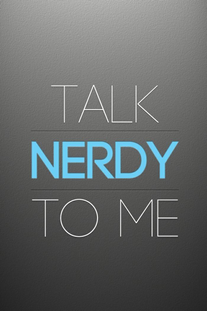 iphone hintergrund ideen, graue farbe hinten, weiß und blau text idee, sprich zu mir aber nerdy