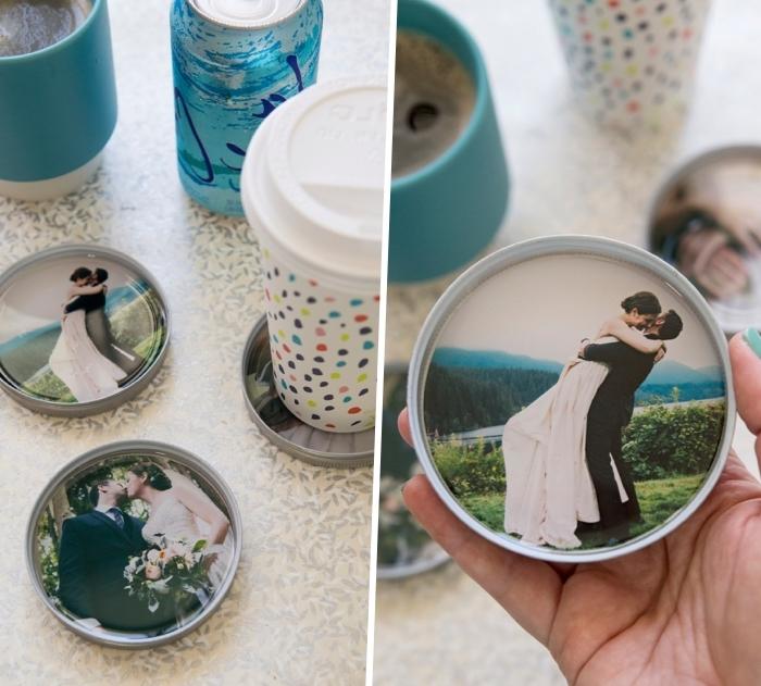 glasuntersetzer mit fotos, jahrestag geschenk für ihn, fotogeschenk basteln