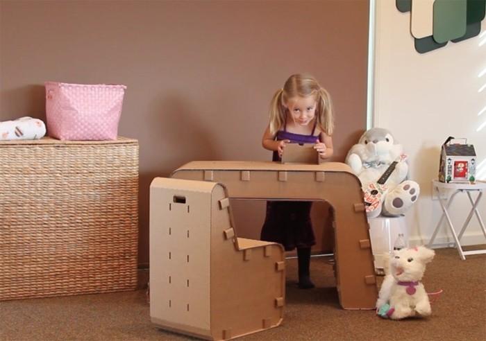 stange design, kinderzimmer einrichten mit karton, schreibtisch und stuhl für kinder selber konstruieren