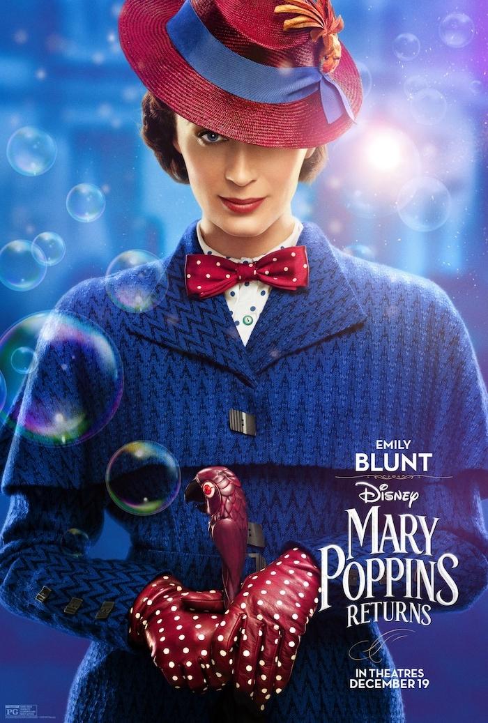 Mary Poppins greift wieder zum magischen Regenschirm