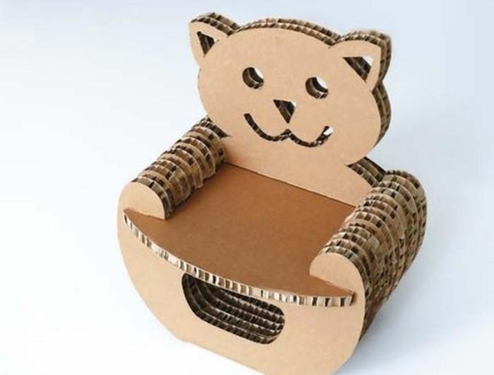 pappmöbel für kinder, diy anleitung für eltern, bär form, schöne und lustige designs