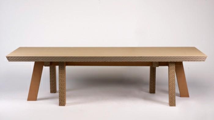 möbel aus karton diy idee und kreative möbelgestaltung in dem zuhause, tisch mit sechs beinen