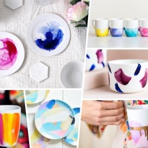 Porzellan bemalen: Über 80 Ideen, wie Sie Geschirr kreativ dekorieren
