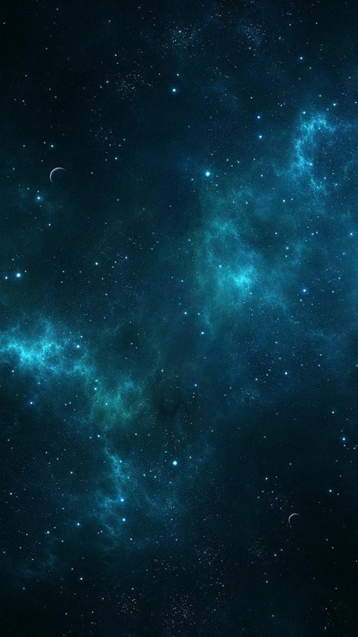 symmetrischer Sternenhimmel, die Milchstraßegalaxie in der Mitte, Hintergrundbilder kostenlos