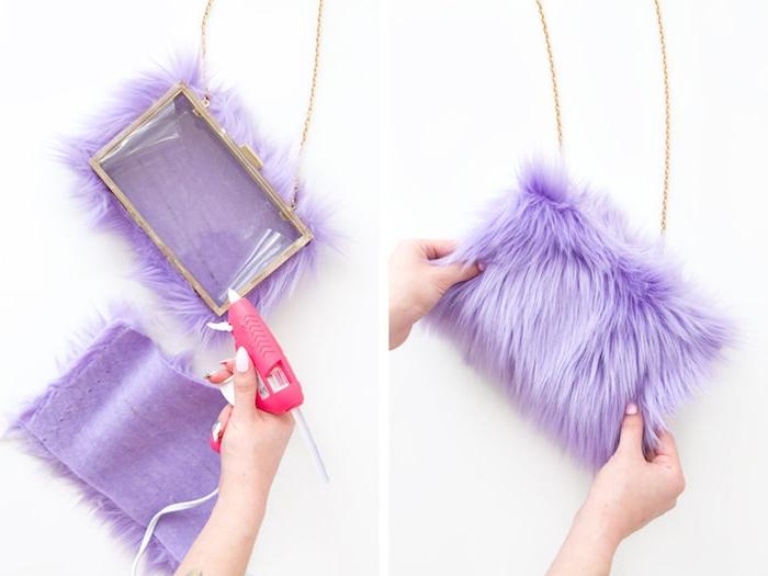 Flauschigen Purse selber machen, DIY kreatives Weihnachtsgeschenk für Freundin