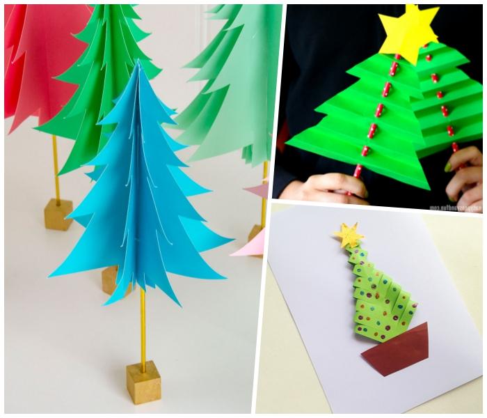 roter strohhalm mit punkten, tannenbaum vorlage, kleine holzwürfeln, weihnachtskarte