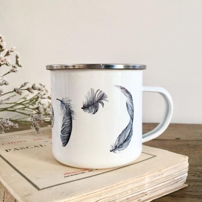 tasse zum bemalen, feder zeichnen, kaffeetasse verzieren, marker für porzellan