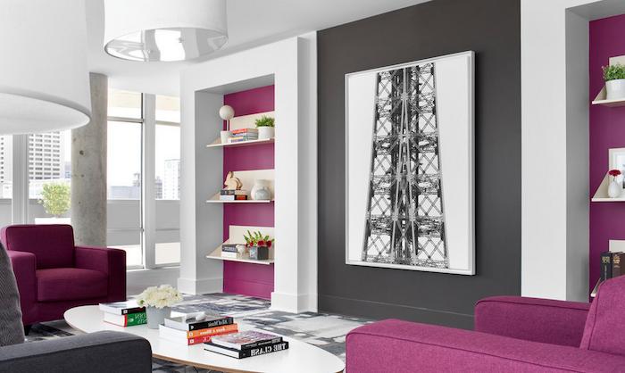 welche farbe passt zu grau, lila oder rosa mit grau ist eine klassische und schöne deko und kombi idee