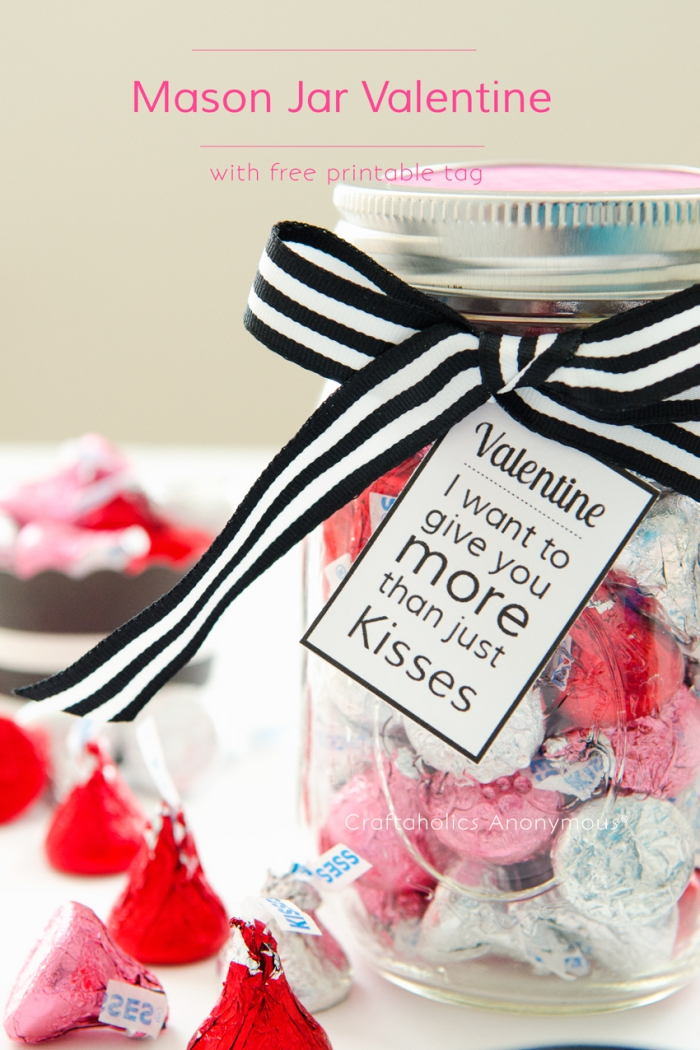 geschenk in einmachglas, was kann ich meinem freund schenken, valentinstag