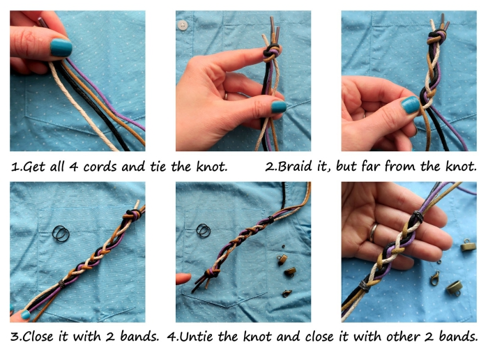 was schenke ich meinem freund, armband selber machen, diy schmuck ideen, flechtsmethode