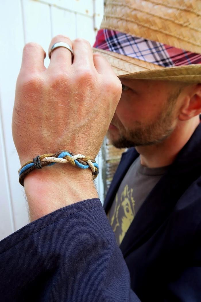 was schenke ich meinem freund, silberner ehering, selbstgemachtes armband