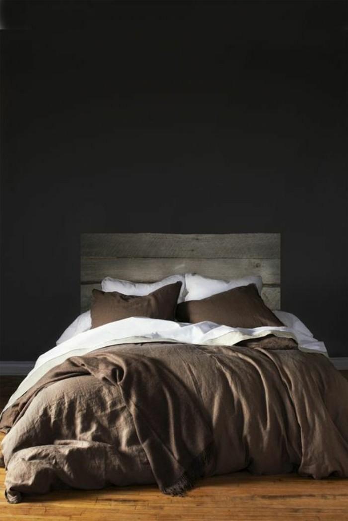 schöner wphnen dunkle farben im schlafzimmer für ein räumliches erlebnis, nette atmosphäre zum chillen