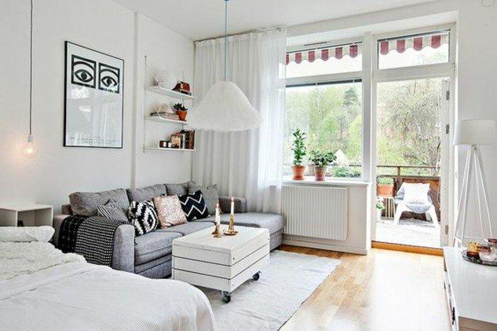 1001 ideen zum thema einzimmerwohnung einrichten. Black Bedroom Furniture Sets. Home Design Ideas