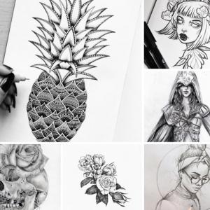 93 inspirierende Bilder zum Zeichnen