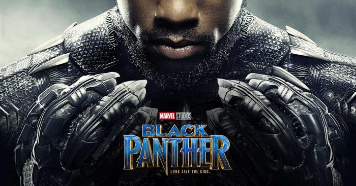 black panter, film poster, mann mit schwarzem panzer, lange nägel, der schwarze panter
