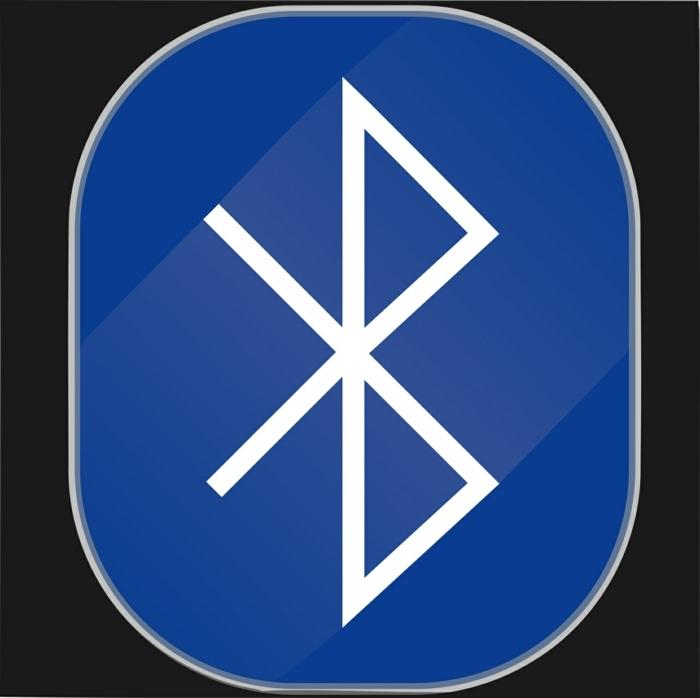das Logo von Bluetooth, der Buchstabe B, das Logo zeigt, dass Bluetooth Navigation alles verbindet