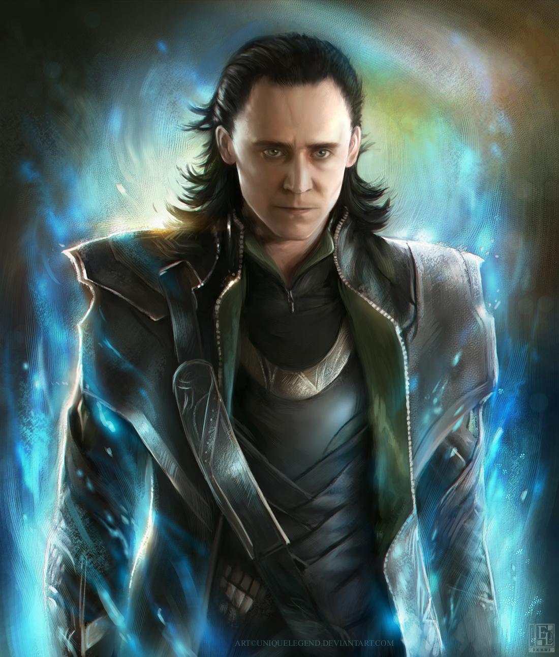 Disney Plus, ein Foto von Loki von der neuen Serie für den Gott, der Schauspieler auf glänzenden Hintergrund
