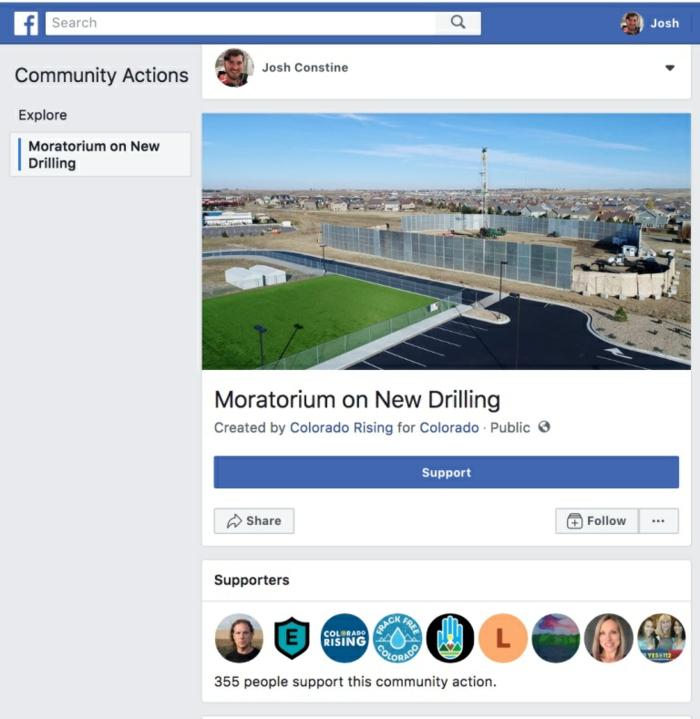 eine Facebook Petition von 355 unterstüzt, Wasser auf dem Bild, Petition von Joch Constine