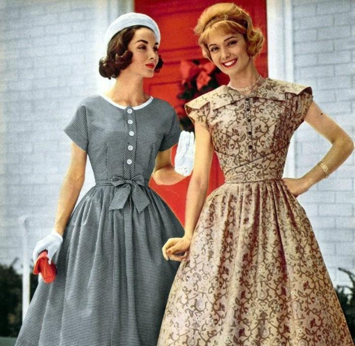 halloween verkleidung ideen für frauen, retro look, klassische damen, ladies party zu fashing machen