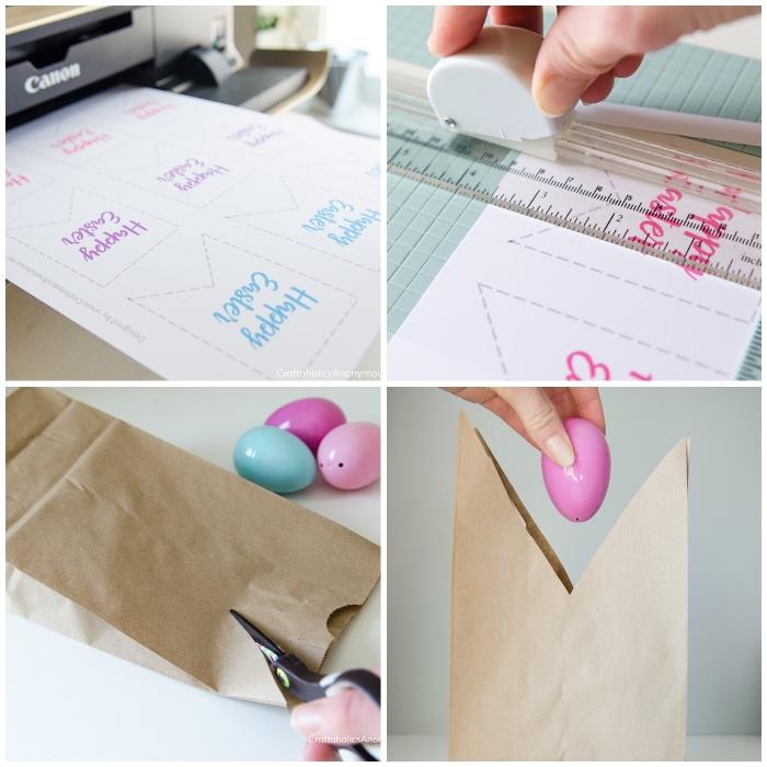 hase vorlage zum ausdrucken, papiertüte mit süßigkeiten selber machen, eier aus kunststoff