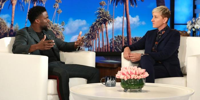 Ellen and Hart sprechen miteinander über den Host von Oscars in Ihrer Talkshow
