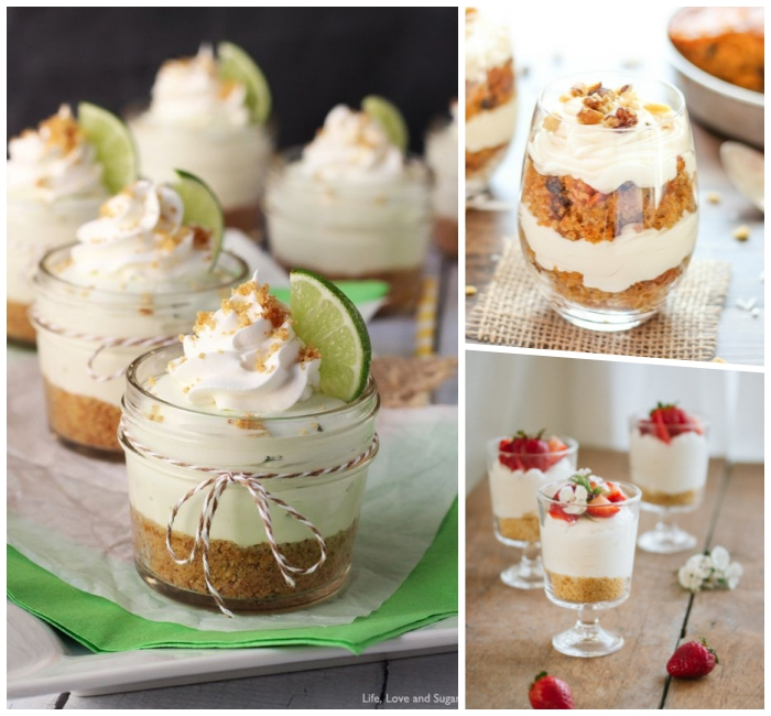 party, ideen, kuchen rezepte einfach und schnell, dessert mit limette, nachtisch im glas