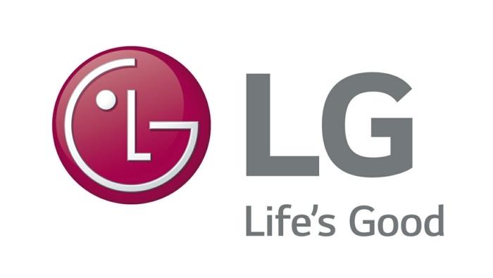 das Logo von LG ist ein Gesicht aus dem beiden Buchstaben der Firm und Spruch, Life is Good