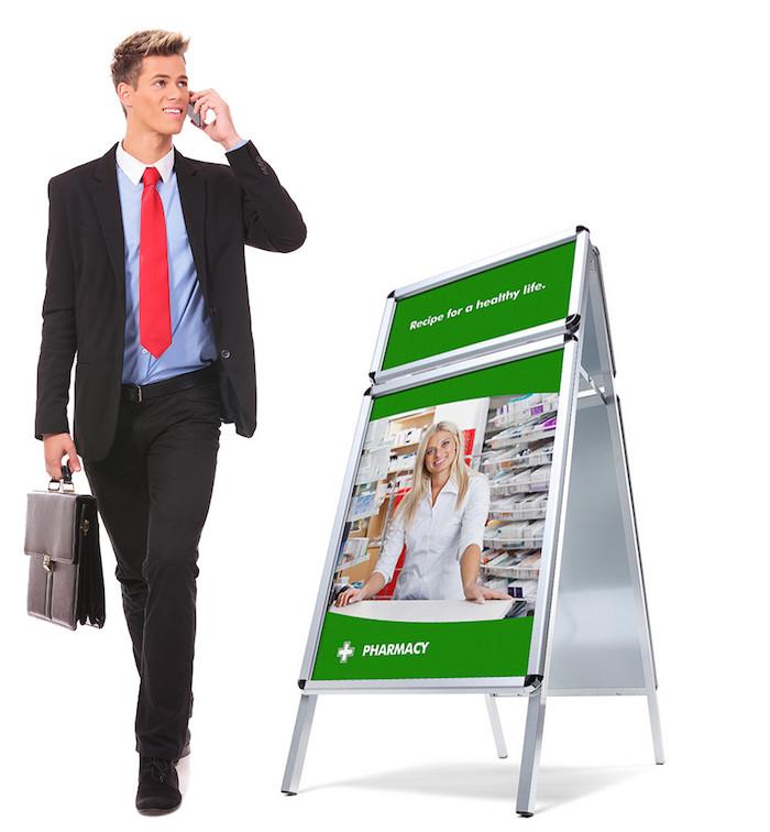 Kundenstopper oder wie Sie Kunden auf sich aufmerksam machen