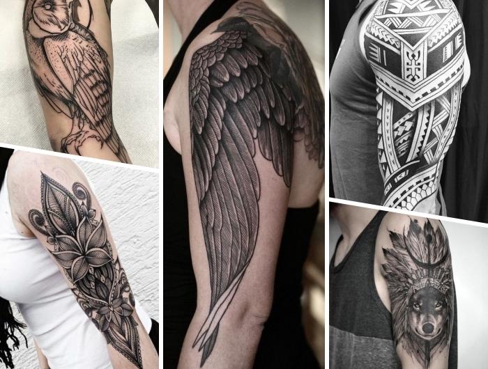 Männer tattoos oberarm motive
