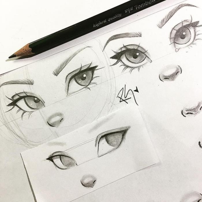 augen zeichnen für anfänger, schritt für schritt, wie zeichnet man frauenaugen