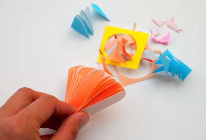 Bastelanleitungen ideen und Bilder zum Veranschaulichen, Bastelideen, Oranges Papier