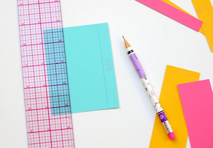 Was kann man mit Kindern basteln, wenn man Lineal, Bleistift und buntes Papier hat ist alles möglich