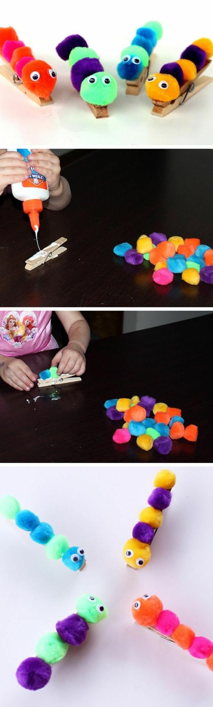 Kinder basteln, kleine Tierchen, Bastelvorlagen und Ideen zu schönen Designs, Bugs basteln